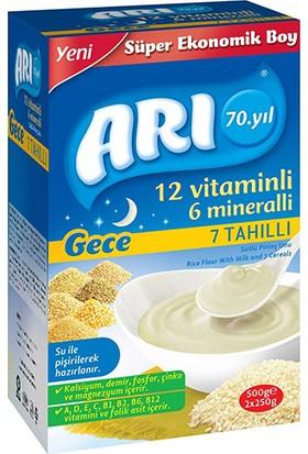 Arı 12 Vitaminlı 6 Mineralli Gece 7 Tahıllı Pirinç Unu Bebek Maması 500 gr