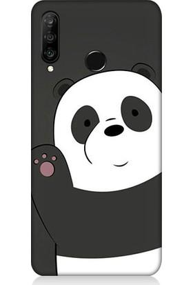Teknomeg Huawei P30 Lite Sevimli Panda Desenli Tasarım Silikon Kılıf