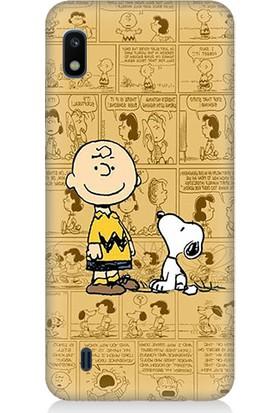 Teknomeg Samsung Galaxy A10 Snoopy Dog Desenli Tasarım Silikon Kılıf