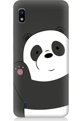 Teknomeg Samsung Galaxy A10 Sevimli Panda Desenli Tasarım Silikon Kılıf