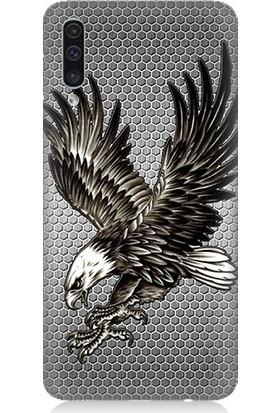 Teknomeg Samsung Galaxy A50 Beşiktaş 3 Yıldız Kartal Arma Desenli Silikon Kılıf