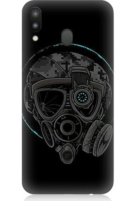 Teknomeg Samsung Galaxy M20 Gaz Maskesi Desenli Tasarım Silikon Kılıf