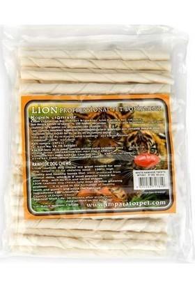 Lion Beyaz Burgu Köpek Kemirme Çubuğu 5-6 Gr X 50 Adet