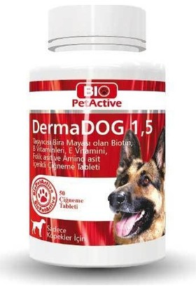 Bio Pet Active Dermadog 50 Tablet Brewers Yeast Sarımsaklı Maya Tableti