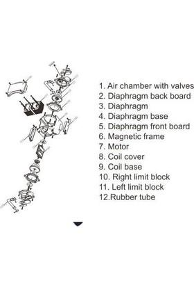 Resun Lp-100 Düşük Sesli Akvaryum Hava Pompası
