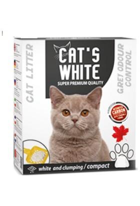 Cats White Grey Odour Control Aktif Karbonlu Ekstra Topaklaşan Kedi Kumu 6 L