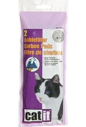 Catit Kapalı Kedi Tuvaleti Karbon Ped Yedeği 2 Li