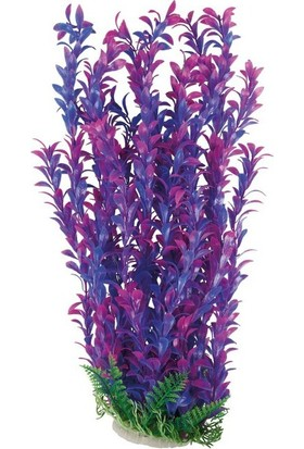 Aquatic-Plants Pembe-Mor Akvaryum Plastik Bitki 52 Cm