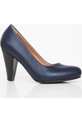 Girl Boss New York Atticus Lacivert Comfort Deri Hostes Ayakkabısı C4019-P-1