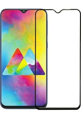 Telbor Samsung Galaxy M20 Tam Kaplayan Ultra İnce Ekran Koruyucu - Siyah