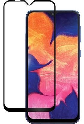 Online Samsung Galaxy A10 5D Tam Kaplayan Ekran Koruyucu Cam