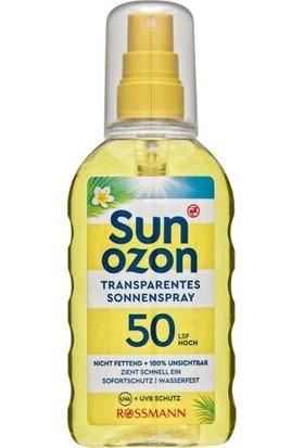 Sun Ozon Güneş Spreyi Spf 50 Transparan 200 ml