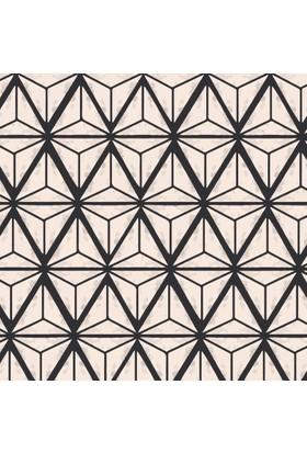 Yamamiya Dekoratif Zigzag Desenli Ahşap Bardak Altlığı 4'lü Set