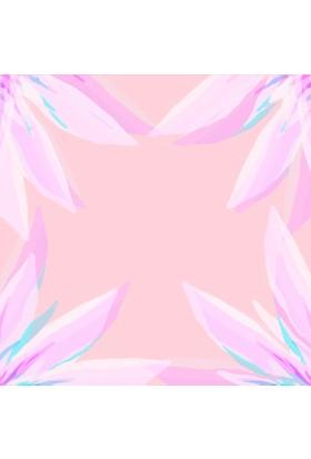 Yamamiya Dekoratif Pembe Dantel Desenli Ahşap Bardak Altlığı 4'lü Set