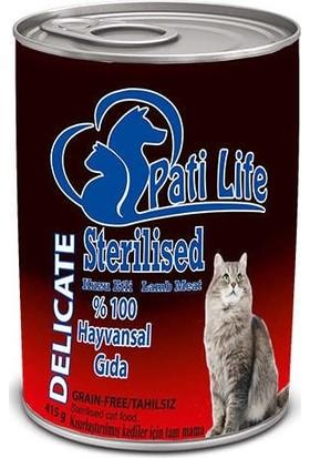 Pati Life Sterilised Tahılsız Kedi Konserve 415 Gr 24'lü