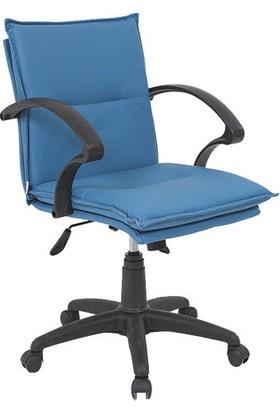 Uzay Ofis Eko Yastıklı Plastik Şef Koltuğu - Mavi