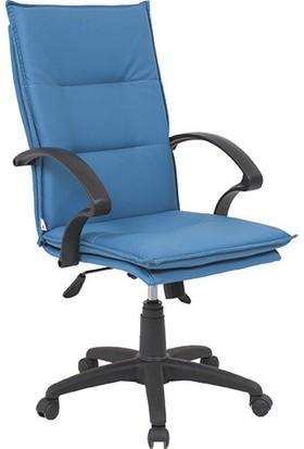 Uzay Ofis Eko Yastıklı Plastik Müdür Koltuğu - Mavi