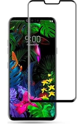 Ally LG G8 Thinq 3D Kavisli Full Tempered Cam Ekran Koruyucu Siyah