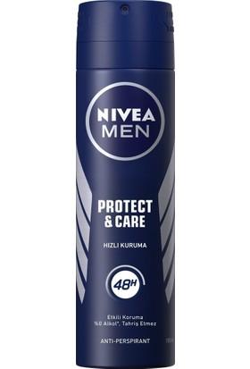 Nivea Protect Care Erkek 150 ml Deodorant 6'lı Set
