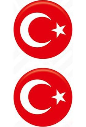 Gecko Damla Etiket Türk Bayrağı Küçük Takım