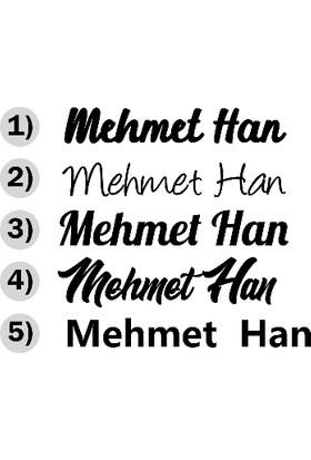 New Jargon Kişiye Özel Seçenek Altarnatifli İsim Sticker Etiket Çıkartma - 15 cm