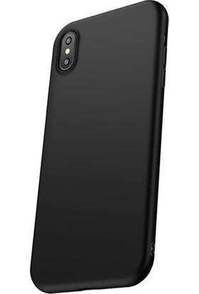 Cafele Vendas iPhone XS Siyah Silikon Kılıf + Vendas Ekran Koruyucu