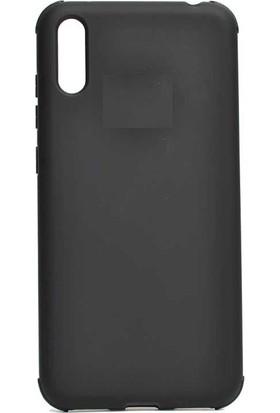 Teleplus Samsung Galaxy A50 Mat Darbe Korumalı Silikonlu Kılıf Siyah + Nano Ekran Koruyucu