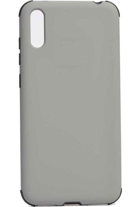 Teleplus Samsung Galaxy A50 Kılıf Mat Darbe Korumalı Silikonlu Gri + Nano Ekran Koruyucu