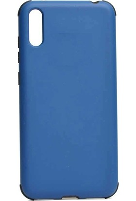 Teleplus Samsung Galaxy A50 Kılıf Mat Darbe Korumalı Silikonlu Lacivert + Nano Ekran Koruyucu