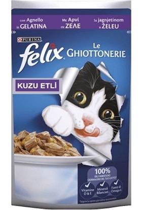 Felix Kuzu Etli Yaş Kedi Maması 100 gr x 20 Adet