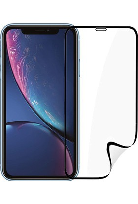 Monsterskin Apple iPhone XR Pet 5D Full Kaplayan İnce Ultra Darbeye Dayanaklı Ekran Koruyucu