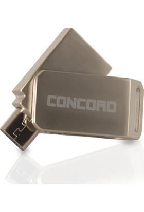 Concord 8GB Metal Dual Çift Taraflı Micro Otg Mobil Flash Bellek