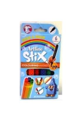 Artline Etx-300 6W Stix Colouring Marker 6Lı Paket
