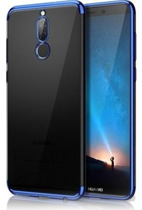 Kılıfreyonum Huawei Mate 10 Lite Lazer Dört Köşe Silikon Kılıf + Ekran Koruyucu Mavi