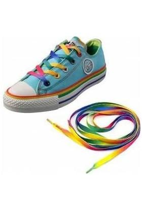Gökkuşağı Renkli Spor Ayakkabı Bağcığı 120 cm
