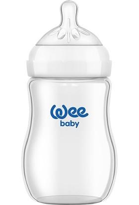 Wee Baby Natural Isıya Dayaniklı Cam Bi̇beron 250 ml 0-6 Ay Anne Göğsüne Yakın Bi̇beron
