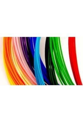 Maker 3D Yazıcı ve 3D Kalem Filamenti Pla 5 Renk 5 mt