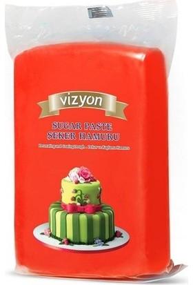 Cakes Party Vizyon Şeker Hamuru Kırmızı 1 kg