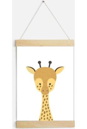 Yamamiya Zürafa Desenli Zincir Askılı Kanvas Poster