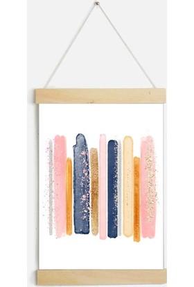 Yamamiya Fırça Boyama Desenli Zincir Askılı Kanvas Poster