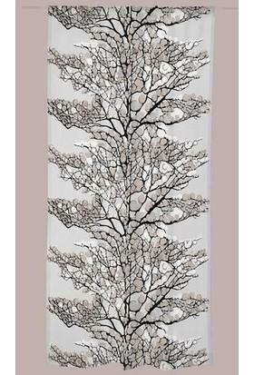 Melodie Tül Fon Perde Mavi Beyaz 145 x 250 cm