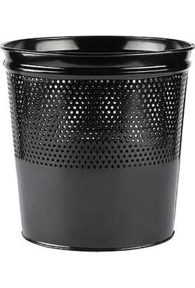 Aksesuaros Ofis Için Delikli Çöp Kovası Siyah