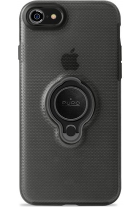 Puro Magnet 360° iPhone 7/8 Ring Cover Black