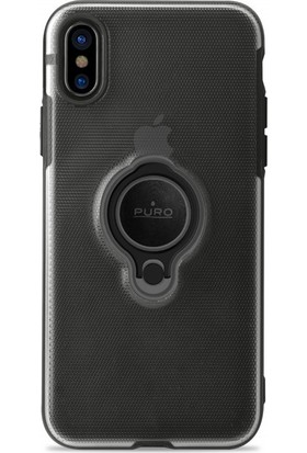 Puro Magnet 360° iPhone X Ring Cover Black