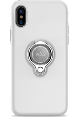Puro Magnet 360° iPhone X Ring Cover White