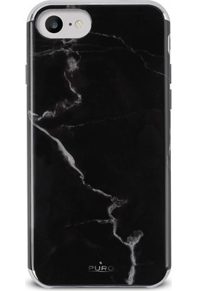 Puro Marble Cover iPhone 6/6s/7/8 Marquina Black