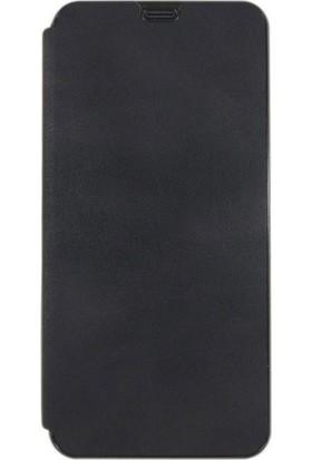 Teleplus Samsung Galaxy A70 Kartlıklı Kapaklı Kılıf Siyah + Nano Ekran Koruyucu