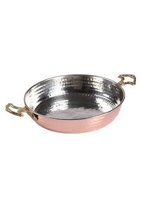 Pirinç Kulplu, 3'lü Kalın Bakır Tava-Omlet Set