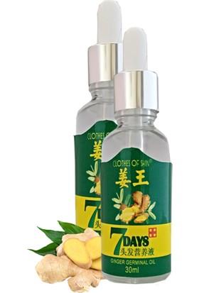 7 Days 30ml Gingergerminalessentialoil Hair Growth Loss Treatment Serum Unisex 2 Adet Saç Bakım Yağı