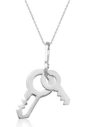 Tesbihayal Gümüş Anahtar Bayan Kolye